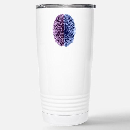 Human brain, computer a Stainless Steel Travel Mug