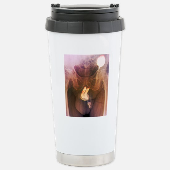 Penis prosthesis with p Stainless Steel Travel Mug