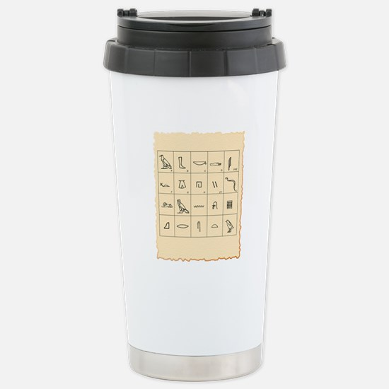 Phonetic Egyptian hiero Stainless Steel Travel Mug