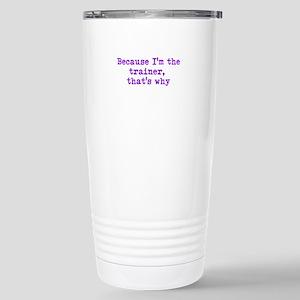 trainerpurple Stainless Steel Travel Mug