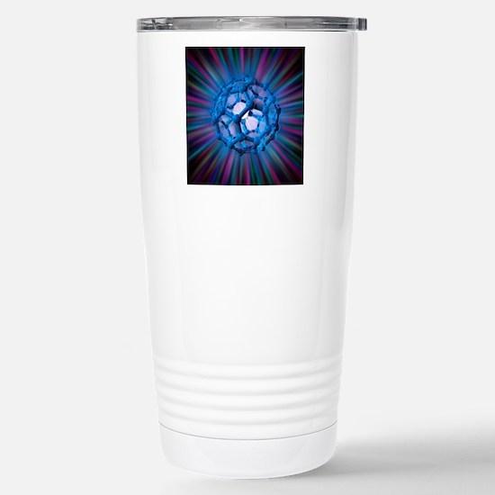 Buckyball molecule, art Stainless Steel Travel Mug