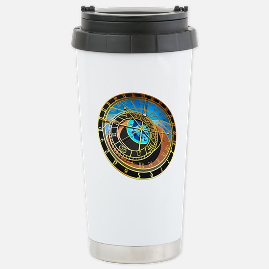 Astronomical clock, art Stainless Steel Travel Mug