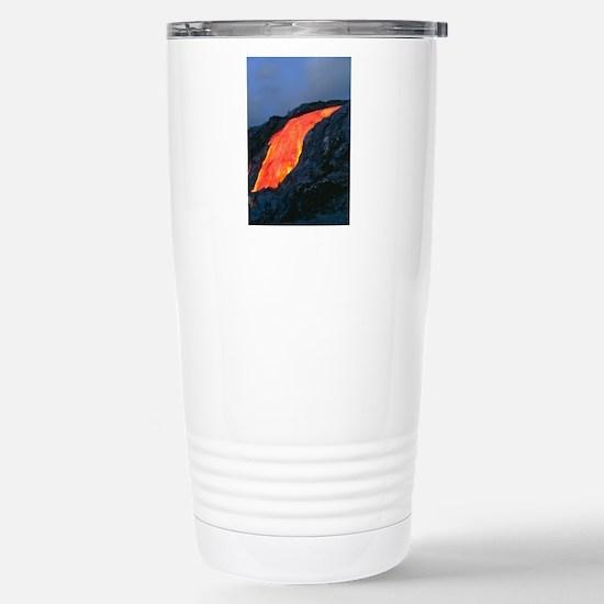 Lava flow from Kilauea  Stainless Steel Travel Mug