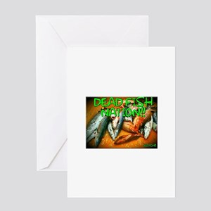 DEAD FISH NATION!! Greeting Cards