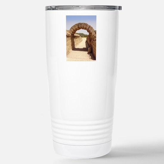 Ancient Olympia stadium Stainless Steel Travel Mug