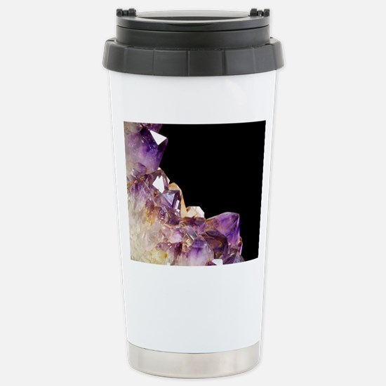 Amethyst crystals Stainless Steel Travel Mug
