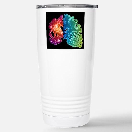 Alzheimer's brain Stainless Steel Travel Mug
