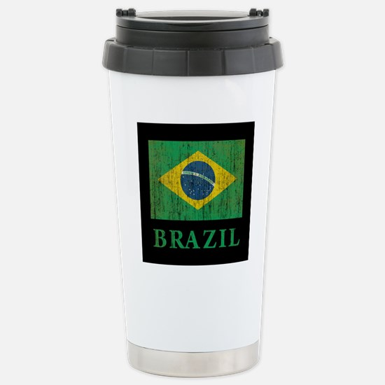 Vintage Brazil Stainless Steel Travel Mug