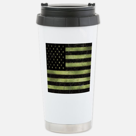 Grunge American Flag du Stainless Steel Travel Mug