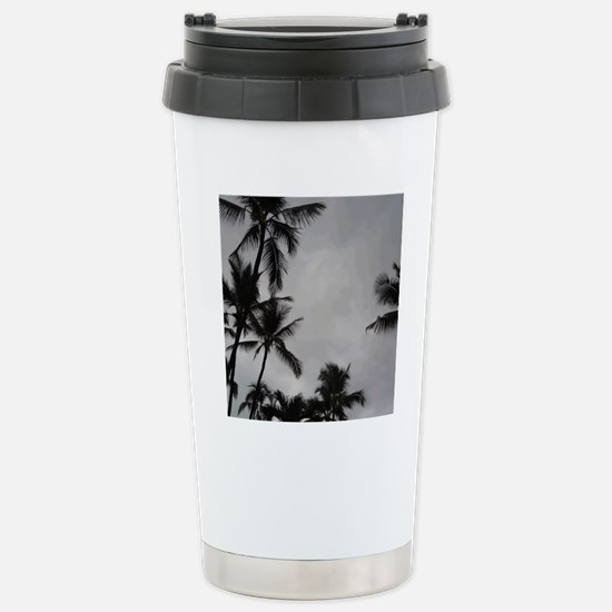 Palm Trees Sillouette Stainless Steel Travel Mug