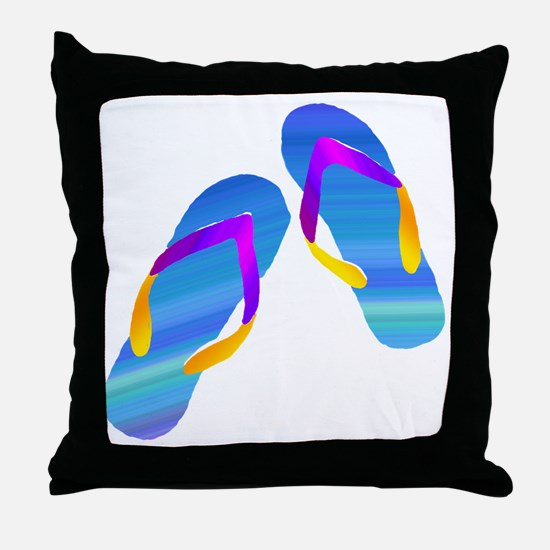 Cute Flipflop Throw Pillow