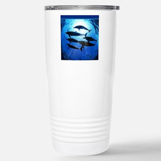 Porpoises in the Ocean  Stainless Steel Travel Mug