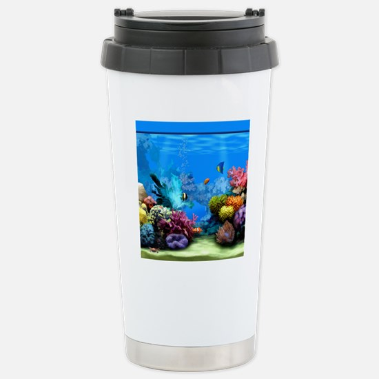 Tropical Fish Aquarium  Stainless Steel Travel Mug