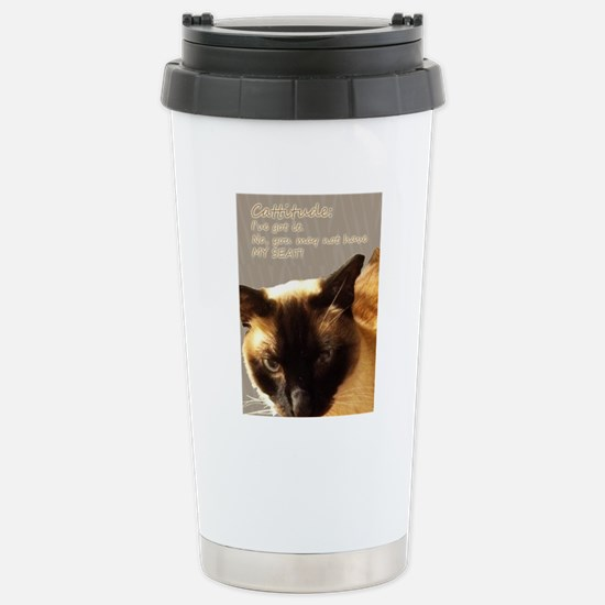 Cattitude Stainless Steel Travel Mug