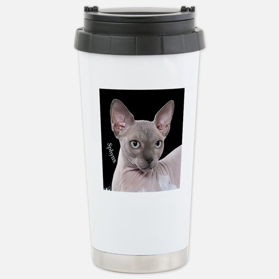 Sphynx Cat Ornament Stainless Steel Travel Mug