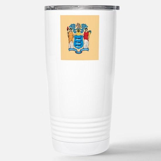 New Jersey Flag Stainless Steel Travel Mug