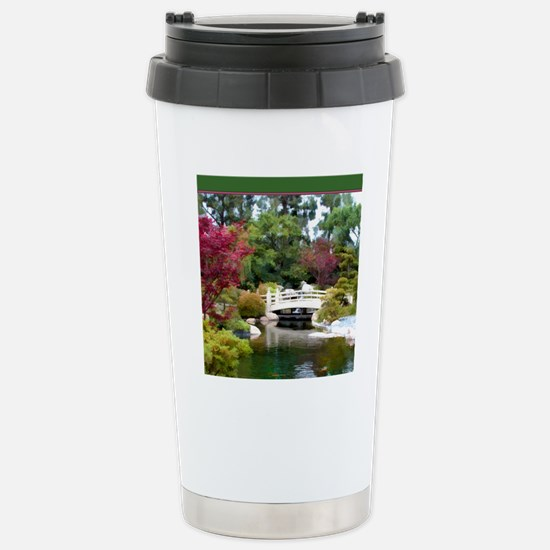 Japanese GArden and Bri Stainless Steel Travel Mug