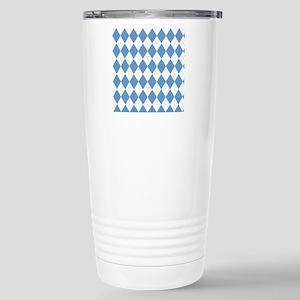 Carolina Blue Argyle So Stainless Steel Travel Mug
