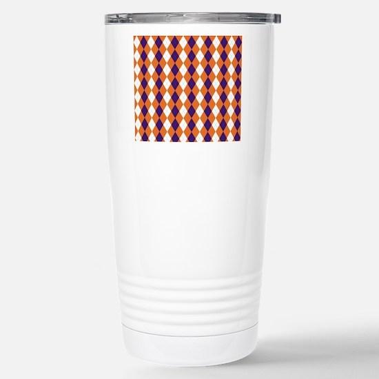 Clemson Argyle Sock... Stainless Steel Travel Mug