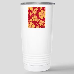 Hibiscus Stainless Steel Travel Mug