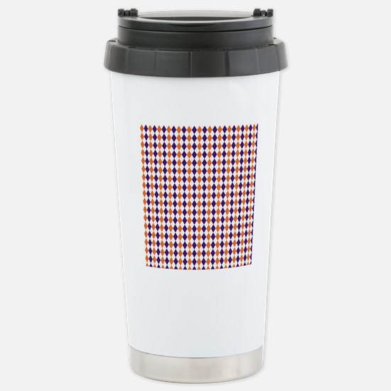 Clemson Argyle Sock Pat Stainless Steel Travel Mug