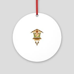 Coo Coo Clock Ornament (Round)