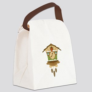Coo Coo Clock Canvas Lunch Bag