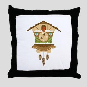 Coo Coo Clock Throw Pillow