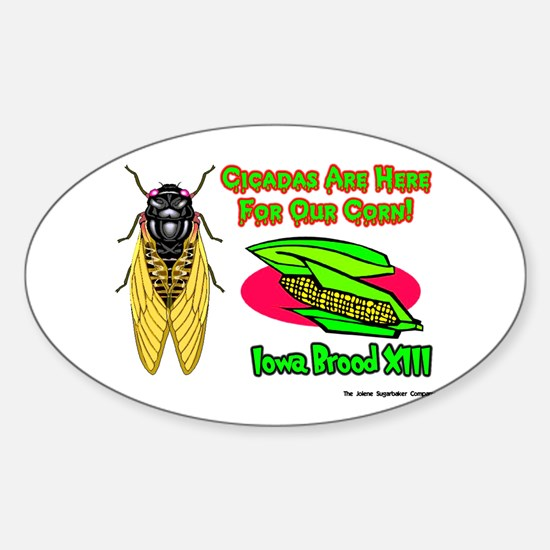 Cicada Iowa Corn Oval Decal