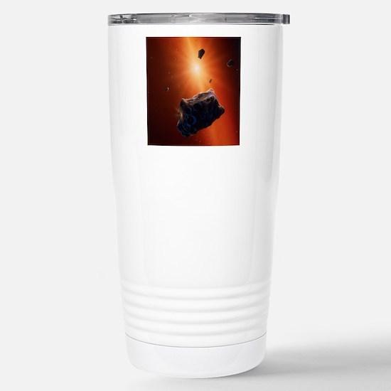 Planetesimal asteroids  Stainless Steel Travel Mug