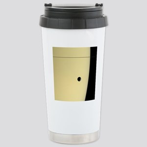 Saturn and its moon Tet Stainless Steel Travel Mug