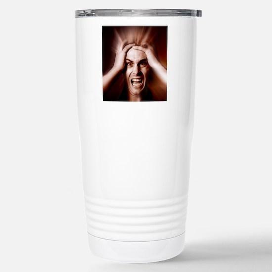 Stressed man Stainless Steel Travel Mug