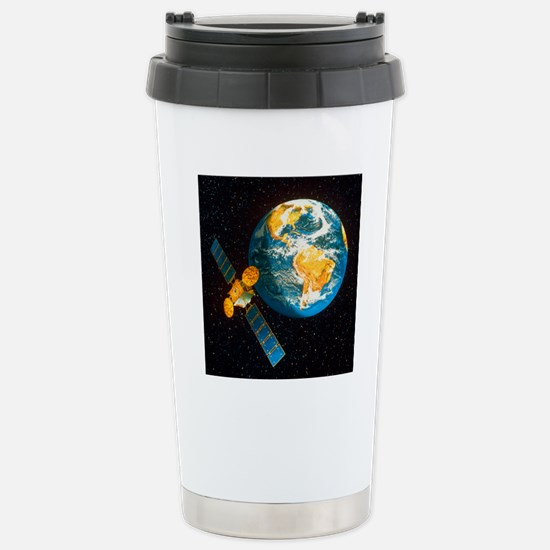 Artwork of a communicat Stainless Steel Travel Mug