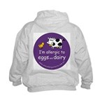 eggs and dairy Kids Hoodie with back design