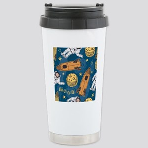 Astronaut Pattern Stainless Steel Travel Mug