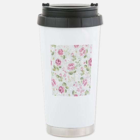 Beautiful Floral Patter Stainless Steel Travel Mug