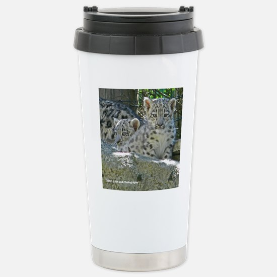 Baby Snow Leopards Stainless Steel Travel Mug