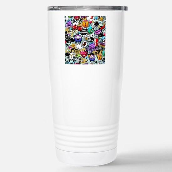 Cool Graffiti Stainless Steel Travel Mug