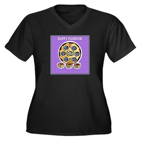 Passover Women's Plus Size V-Neck Dark T-Shirt