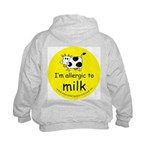 I'm allergic to milk Kids Hoodie with back design