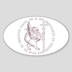 Griffin Oval Sticker