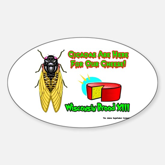 Wisconsin Cheese Cicada Oval Decal