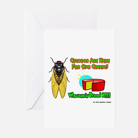 Wisconsin Cheese Cicada Greeting Cards (Package of