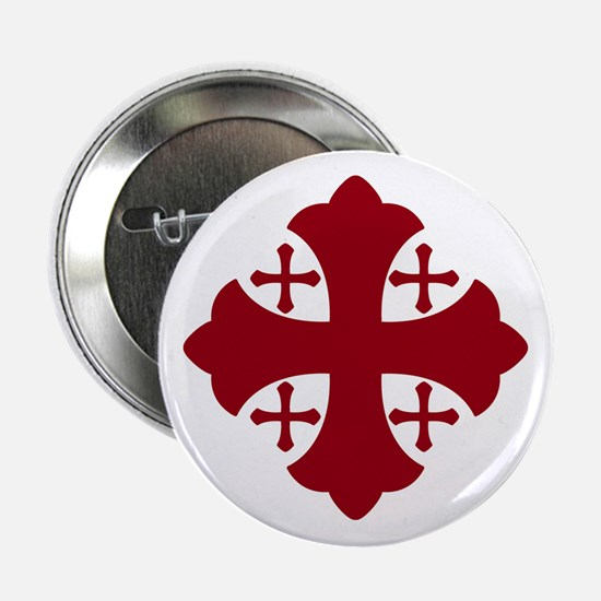 Jerusalem Cross Button