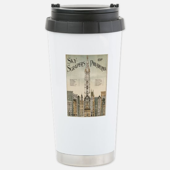 Skyscrapers Of Philadel Stainless Steel Travel Mug