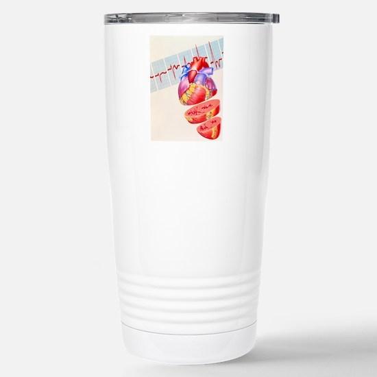 Artwork of heart Stainless Steel Travel Mug