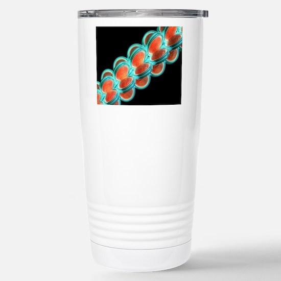 Chromatin fibre, artwor Stainless Steel Travel Mug