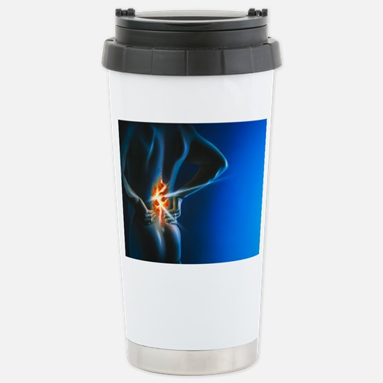 Artwork of man holding  Stainless Steel Travel Mug