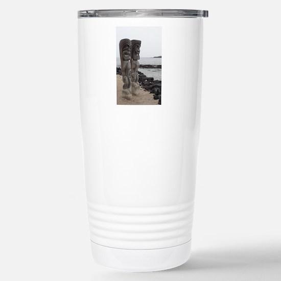 Place of Refuge Tikis Stainless Steel Travel Mug