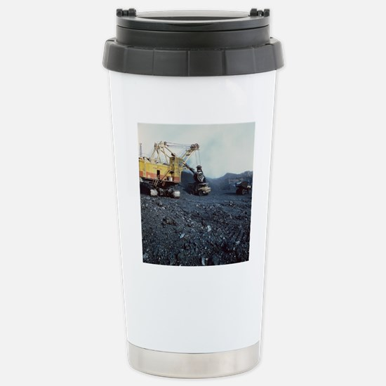 Open cast coal mining Stainless Steel Travel Mug